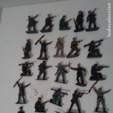 Figuras de Goma y PVC: 25 CASCOS AZULES DE JECSAN - LOTE 3. Lote 175330837