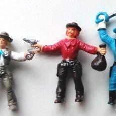 Figuras de Goma y PVC: COMANSI - LOTE 3 VAQUEROS. Lote 175392499