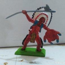 Figure di Gomma e PVC: FIGURA DE GOMA BRITAIN'S DEETEIL 1971VAQUEROS INDIOS OESTE FART WEST . Lote 175447328