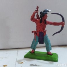 Figuras de Goma y PVC: FIGURA DE GOMA BRITAIN'S DEETEIL 1971VAQUEROS INDIOS OESTE FART WEST . Lote 175447465