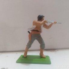 Figurines en Caoutchouc et PVC: FIGURA DE GOMA BRITAIN'S DEETEIL 1971VAQUEROS INDIOS OESTE FART WEST . Lote 175448457