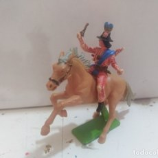 Figuras de Goma y PVC: FIGURA DE GOMA BRITAIN'S DEETEIL 1971VAQUEROS INDIOS OESTE FART WEST A CABALLO . Lote 175449533