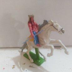 Figuras de Borracha e PVC: FIGURA DE GOMA BRITAIN'S DEETEIL 1971VAQUEROS INDIOS OESTE FART WEST A CABALLO . Lote 175449662