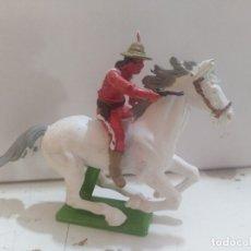 Figuras de Goma y PVC: FIGURA DE GOMA BRITAIN'S DEETEIL 1971VAQUEROS INDIOS OESTE FART WEST A CABALLO . Lote 175449735