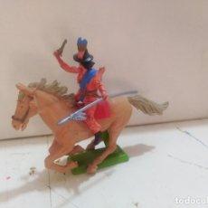 Figuras de Goma y PVC: FIGURA DE GOMA BRITAIN'S DEETEIL 1971VAQUEROS INDIOS OESTE FART WEST A CABALLO . Lote 175450190