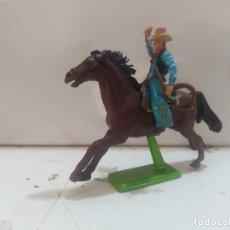 Figuras de Goma y PVC: FIGURA DE GOMA BRITAIN'S DEETEIL 1971VAQUEROS INDIOS OESTE FART WEST A CABALLO . Lote 175450533