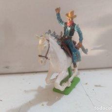 Figuras de Goma y PVC: FIGURA DE GOMA BRITAIN'S DEETEIL 1971VAQUEROS INDIOS OESTE FART WEST A CABALLO . Lote 175450632