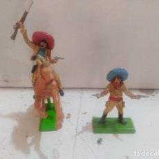 Figuras de Goma y PVC: FIGURA DE GOMA BRITAIN'S DEETEIL 1971VAQUEROS CHARROS MEXICANOS INDIOS OESTE FART WEST A CABALLO. Lote 175450762