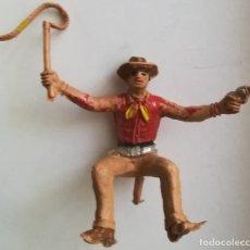 Figuras de Goma y PVC: COMANSI FIGURA VAQUERO CONDUCTOR CARRETA CARROMATO CARAVANA. Lote 175451093