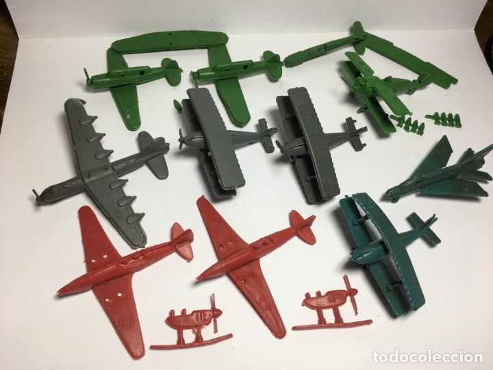 LOTE AVIONES DE MONTAPLEX (Juguetes - Figuras de Goma y Pvc - Montaplex)