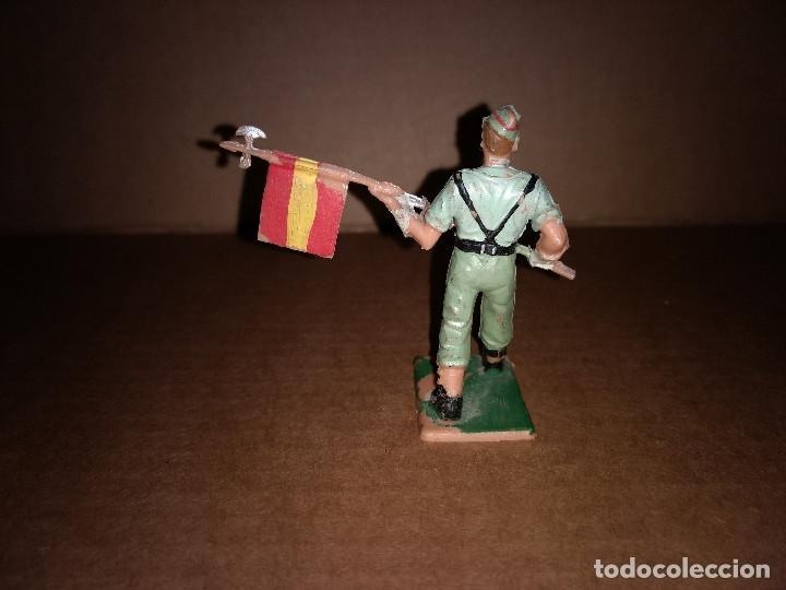 Figuras de Goma y PVC: FIGURA DE PLASTICO LEGIONARIO, LEGION, ABANDERADO REAMSA ORIGINAL AÑO 1970 - Foto 2 - 175460399