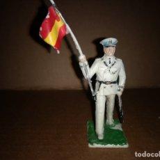 Figuras de Goma y PVC: FIGURA DE PLASTICO ABANDERADO MARINA REAMSA ORIGINAL AÑO 1970. Lote 175460743