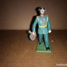 Figuras de Goma y PVC: FIGURA DE PLÁSTICO GUARDIA CIVIL CON TROMPETA DESFILANDO REAMSA ORIGINAL AÑO 1970. Lote 175463452