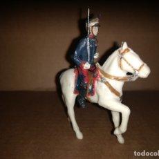 Figuras de Goma y PVC: SOLDADO A CABALLO DEL REY ALFONSO XIII REAMSA FIGURA PLASTICO ORIGINAL AÑO 1970. Lote 175463705