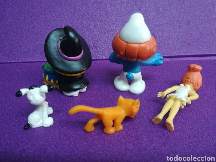 Figuras de Goma y PVC: Lote pitufos Azrael Idefix Picapiedra 20547 20548 figuritas pvc - Foto 2 - 175480820