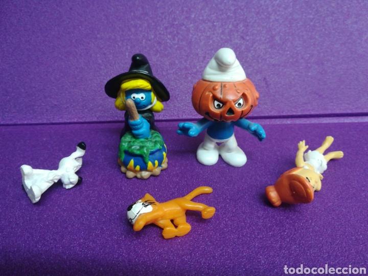 Figuras de Goma y PVC: Lote pitufos Azrael Idefix Picapiedra 20547 20548 figuritas pvc - Foto 3 - 175480820