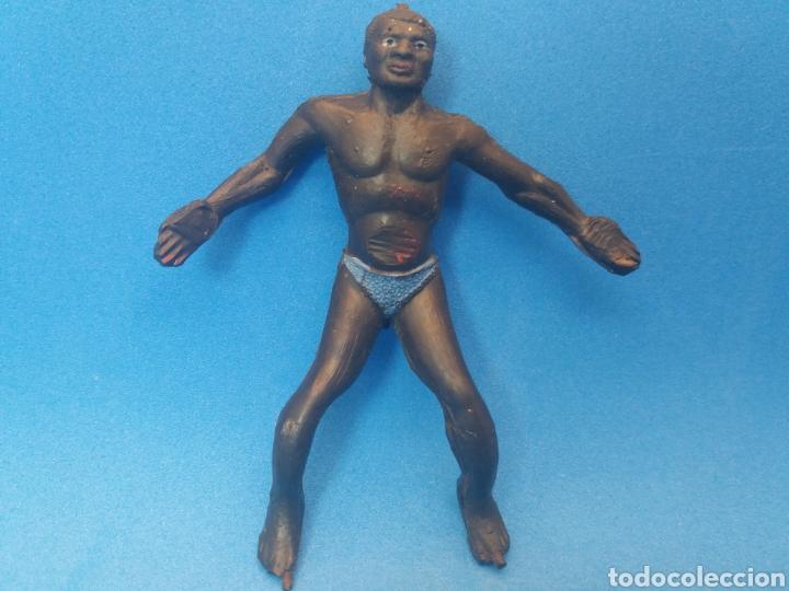 Figuras de Goma y PVC: Antigua Figura en Goma. Serie Africa Salvaje. 80 mm. Fabricado por Arcla. Años 50 - Foto 2 - 175507454
