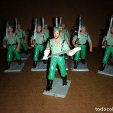 Figuras de Goma y PVC: LOTE DE 10 LEGIONARIOS REAMSA AÑOS 60 EN GOMA , BUEN ESTADO. Lote 175512605
