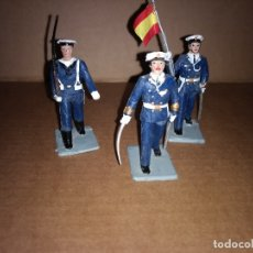 Figuras de Goma y PVC: REAMSA GOMARSA : LOTE DE 3 SOLDADOS DE DESFILE MARINA ESPAÑOLA AÑOS 60 EN GOMA , BUEN ESTADO. Lote 175514665