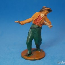 Figuras de Borracha e PVC: ANTIGUA FIGURA EN GOMA. COWBOY . GAMA. AÑOS 50/60.. Lote 175610163