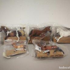 Figuras de Goma y PVC: LOTE CABALLOS SCHLEICH NUEVOS. Lote 175685512
