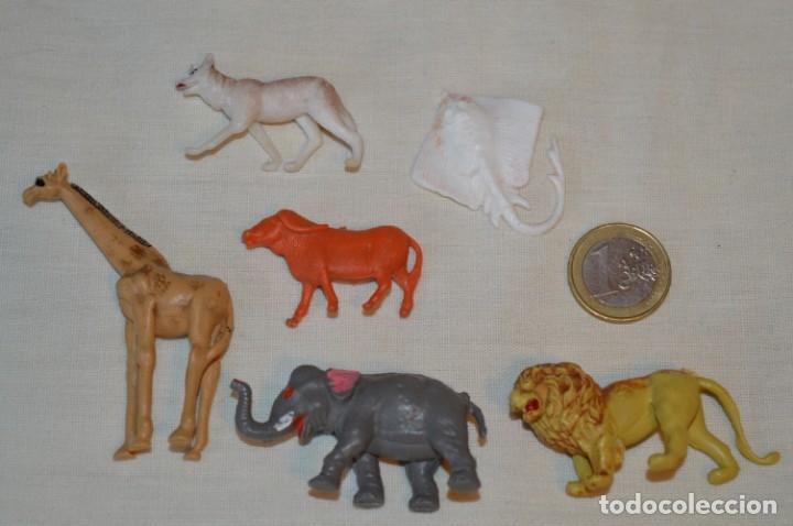 6 FIGURAS VARIADAS ANIMALES - COMANSI, OLIVER, PUIG, PECH, JECSAN.. AÑOS 50/60 ¡MIRA FOTOS/DETALLES! (Juguetes - Figuras de Goma y Pvc - Otras)