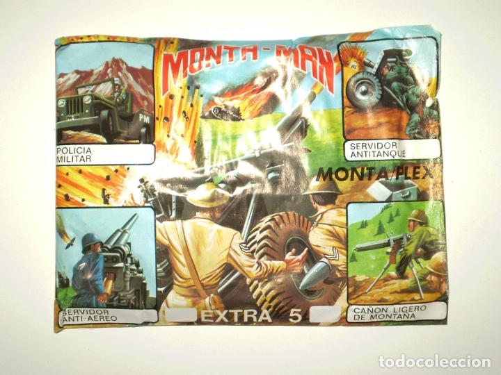 SOBRE MONTAPLEX EXTRA Nº 5 MONTAMAN CAÑÓN - SOBRE CERRADO (Juguetes - Figuras de Goma y Pvc - Montaplex)