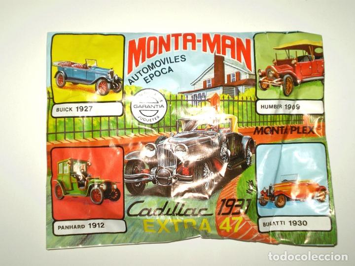 SOBRE MONTAPLEX EXTRA Nº 47 MONTAMAN CADILLAC 1931 - SOBRE CERRADO (Juguetes - Figuras de Goma y Pvc - Montaplex)