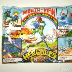 Figuras de Goma y PVC: SOBRE MONTAPLEX EXTRA Nº 33 MONTAMAN ROBOTS EN GUERRA HERCULES - SOBRE CERRADO. Lote 175782549