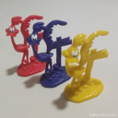 Figuras de Goma y PVC: LEER* FIGURAS WEETOS LOONEY TUNES TOON WARNER PROMOCIONAL CEREALES DUNKIN PVC GOMA CORRECAMINOS ROAD. Lote 175842549
