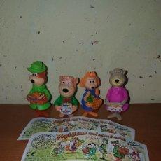Figuras Kinder: LOTE FIGURAS KINDER FERRERO ANTIGUAS OSO YOGI YOGUI CON BPZ ALEMÁN MUY DIFÍCIL DE ENCONTRAR MUÑECOS. Lote 175848970