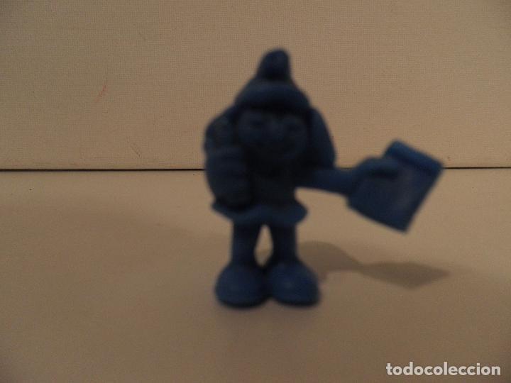 Figuras de Goma y PVC: LOS PITUFOS , PEYO , AÑO 1983 - PEQUEÑAS FIGURA DE PLASTICO TIPO DUNKIN - MIDE 3 cm ALTO - Foto 2 - 175902538