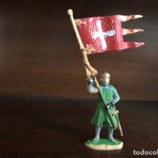 Figuras de Goma y PVC: JECSAN. ABANDERADO. SERIE CABALLEROS DEL REY ARTURO. FIGURA Nº 120. ORIGINAL. Lote 175932825