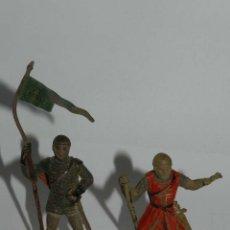 Figuras de Goma y PVC: 2 FIGURAS DE REAMSA MEDIEVAL CRUZADO ABANDERADO REFERENCIA 128 Y 132. TAL Y COMO SE VE EN LAS FOTOGR. Lote 175953650