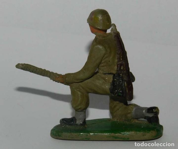 Figuras de Goma y PVC: SOLDADO DE PECH, AMERICANO MARINE SERVIDOR AMETRALLADORA, AÑOS 50 GOMA. - Foto 2 - 175954878