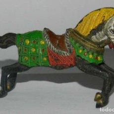 Figuras de Goma y PVC: FIGURA DE CABALLO DE CRUZADO DE REAMSA, REALIZADOS EN GOMA. TAL Y COMO SE VE EN LAS FOTOGRAFIAS PUES. Lote 175956425