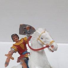 Figuras de Goma y PVC: EL CAPITAN TRUENO A CABALLO . REALIZADO POR ESTEREOPLAST . AÑOS 60. Lote 175960345
