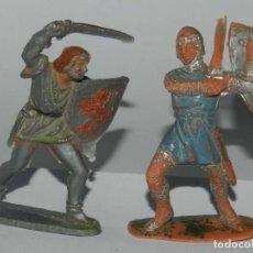 Figuras de Goma y PVC: FIGURA DE MOYA, FIGURA DEL PRINCIPE VALIENTE Y MEDIEVAL, REALIZADO EN PLASTICO.. Lote 175961337