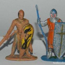 Figuras de Goma y PVC: DOS FIGURAS REAMSA Nº 184. SERIE LOS CABALLEROS DEL REY ARTURO. JUNTO CON MEDIEVAL, REALIZADOS EN PL. Lote 175962074