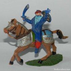Figuras de Goma y PVC: FIGURA DE ARABE A CABALLO, SARRACENO, REALIZADO DE PLASTICO.. Lote 175963902