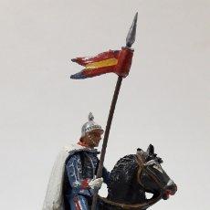 Figuras de Goma y PVC: ESCOLTA DEL GENERALISIMO LANCERO . REALIZADO POR TEIXIDO . AÑOS 50 EN GOMA. Lote 175967847