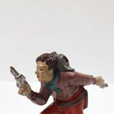Figuras de Goma y PVC: VAQUERO - COWBOY . REALIZADO POR TEIXIDO . AÑOS 50 EN GOMA. Lote 175968412