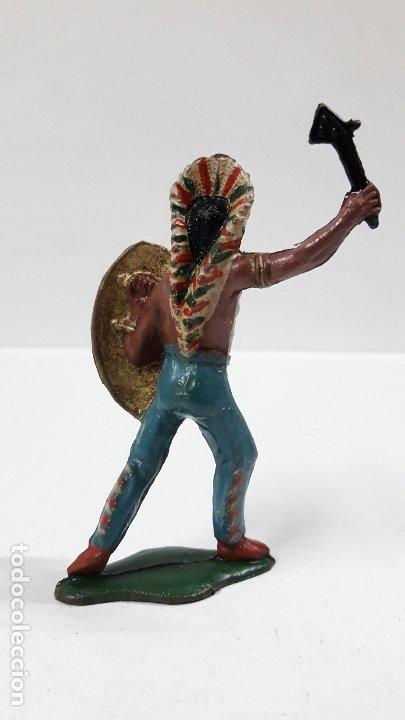 Figuras de Goma y PVC: JEFE INDIO . REALIZADO POR TEIXIDO . AÑOS 50 EN GOMA - Foto 2 - 175968758