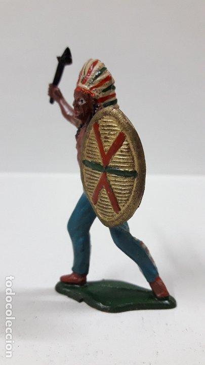 Figuras de Goma y PVC: JEFE INDIO . REALIZADO POR TEIXIDO . AÑOS 50 EN GOMA - Foto 3 - 175968758