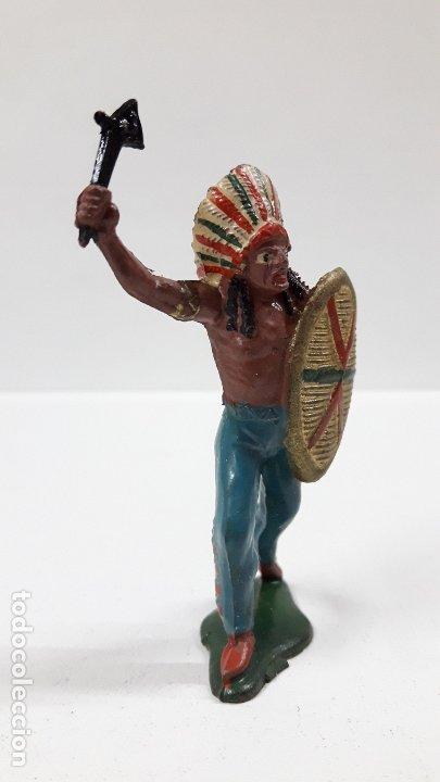 Figuras de Goma y PVC: JEFE INDIO . REALIZADO POR TEIXIDO . AÑOS 50 EN GOMA - Foto 4 - 175968758