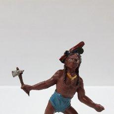 Figuras de Goma y PVC: GUERRERO INDIO . REALIZADO POR TEIXIDO . AÑOS 50 EN GOMA. Lote 175968935