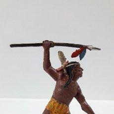 Figuras de Goma y PVC: GUERRERO INDIO . REALIZADO POR TEIXIDO . AÑOS 50 EN GOMA. Lote 175969079