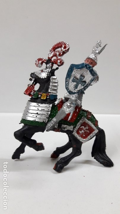 Figuras de Goma y PVC: GUERRERO MEDIEVAL A CABALLO . REALIZADO POR LAFREDO . AÑOS 60 - Foto 5 - 175976017