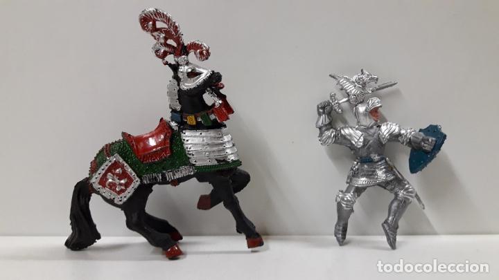 Figuras de Goma y PVC: GUERRERO MEDIEVAL A CABALLO . REALIZADO POR LAFREDO . AÑOS 60 - Foto 7 - 175976017
