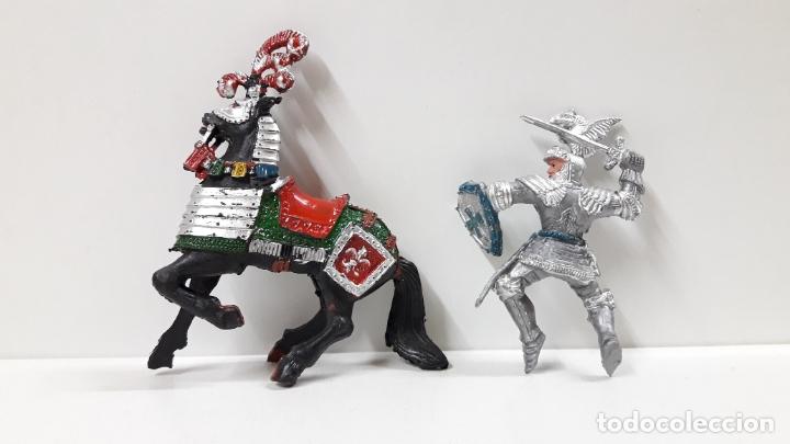 Figuras de Goma y PVC: GUERRERO MEDIEVAL A CABALLO . REALIZADO POR LAFREDO . AÑOS 60 - Foto 8 - 175976017